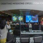 Keely Damara/Courier The Earth Orbiting Missions Operation Center was shown to attendees as one exhibit during the JPL open house on Sunday, October 11, 2015 in Pasadena, Calif. The open house was held on both Saturday and Sunday and included exhibits including a life-size model of the Curiosity Mars rover; demonstrations from numerous space missions; JPL's machine shop, where robotic spacecraft parts are built; and the Microdevices Lab, where engineers and scientists use tiny technology to revolutionize space exploration.