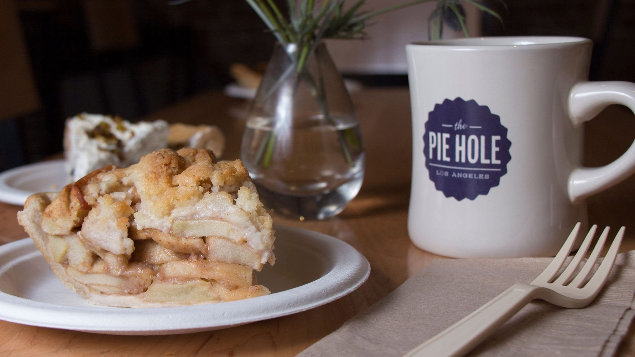 Keely Damara/Courier The Pie Hole's Mom's Apple Crumble at the Pasadena location on Colorado Blvd. on Friday, October 9, 2015. The shared space, named the Indiana Colony Market, includes Intelligentsia, Cool Haus, Pressed Juicery, World Flavorz Spices & Teas, Gilly Flowers and Pop Physique—with space for more vendors. Their original location is in downtown Los Angeles, near the Arts District.