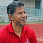 Shaunee Edwards/Courier Cross Country Head Coach Armand Crespo talks about the upcoming season at the PCC track on Thursday, January 29, 2015.