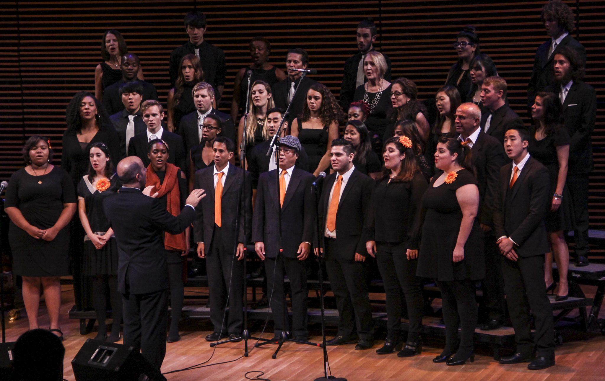 Daniel Valencia/Courier Lancer Jazz Choir performed alonged with Santa Monica City College Jazz Choir, directed by Andreas Preponis at the Westerbeck Recital Hall on Saturday, November 22, 2015.