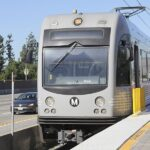 Hannah Gonzales/CourierThe Metro Goldline approaches Allen station in Pasadena on Wednesday, March 23, 2016. PCC and Metro will not be renewing the I-TAP card for full-time students for the 2016-2017 school year.